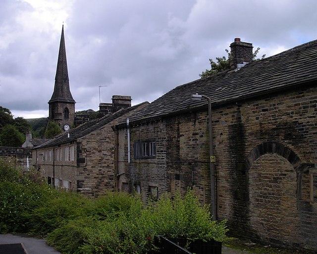 Ripponden - St Bartholomew's Church from playground