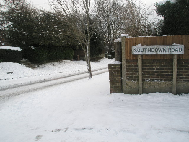 Looking from Southdown Road into East Cosham Road