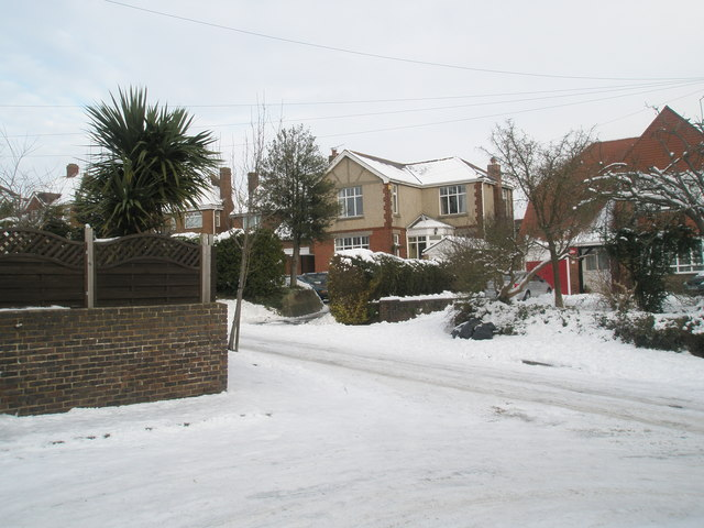 Looking from Colville Road into East Cosham Road