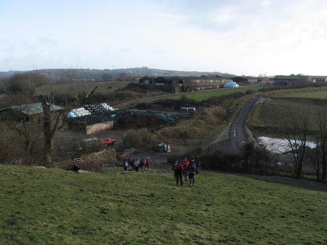 Towards Llwynhelig Farm