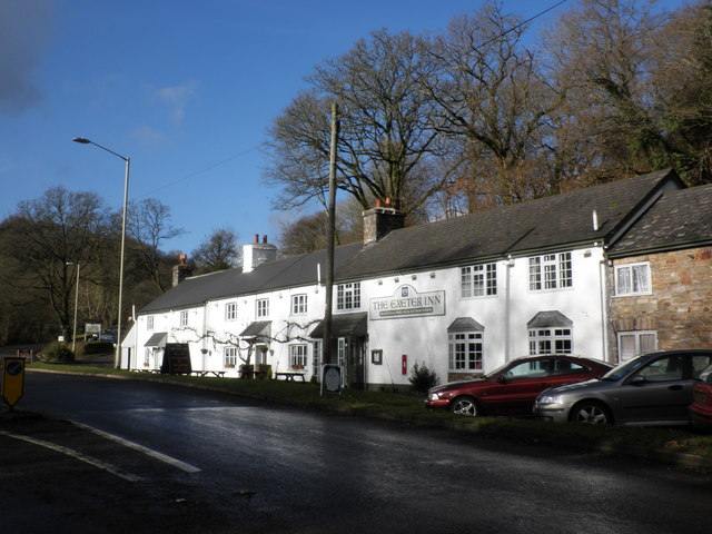 The Exeter Inn, on the A396, south of Bampton