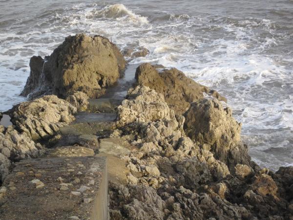 Rock Outcrop in Sea