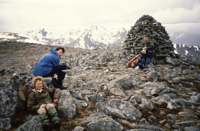 Summit cairn on Carn nan Gobhar