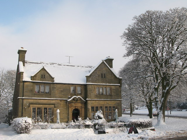 The Gift Shop in the snow