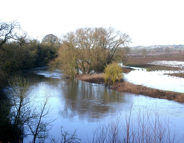 River Avon in flood near Alveston