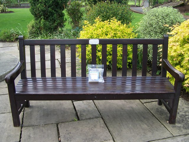 Book and Bench, Bath Gardens, Bakewell