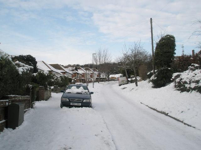 Snow joke in East Cosham Road