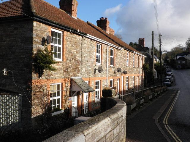 Terraced houses on Brook Street, Bampton