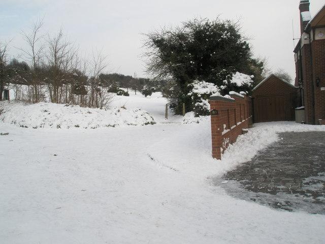 Path from East Cosham Road onto Portsdown Hill