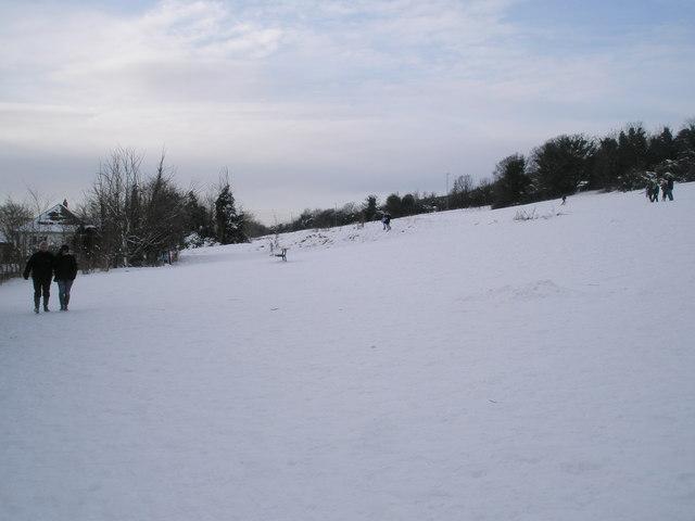 A Saturday afternoon stroll through the snow on Portsdown Hill