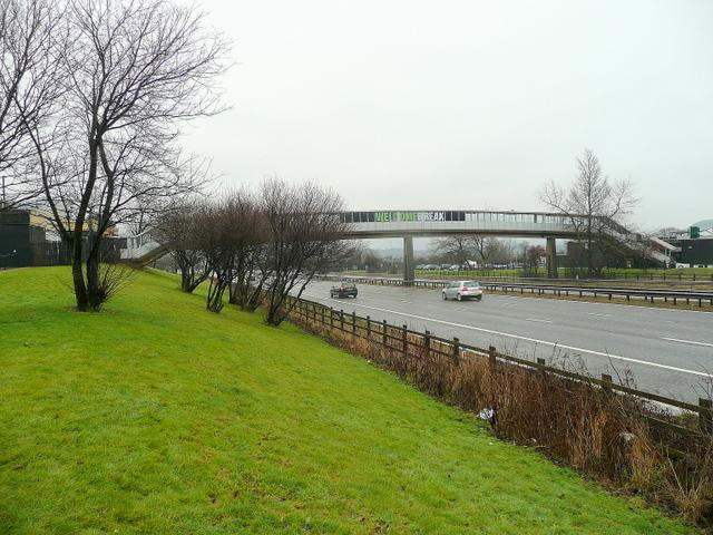 Footbridge over the M1