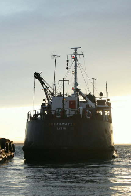 An aft view of the  MV Shearwater