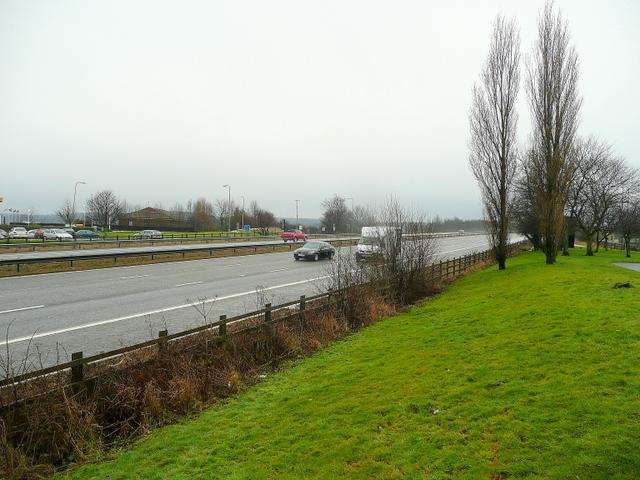 M1 motorway at Woodall