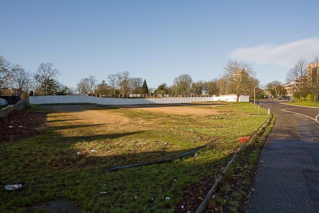 Demolition site beside East Park Terrace