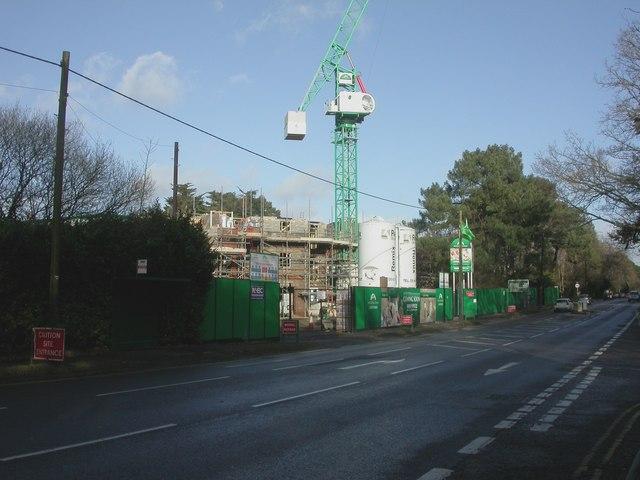 Ferndown, building site