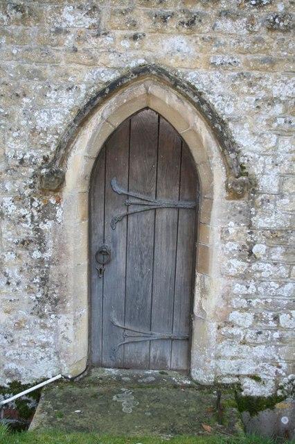 Side door on the church