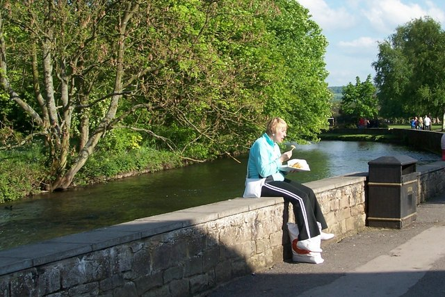 A great place to eat your Plaice (and Chips), River Wye, Bakewell