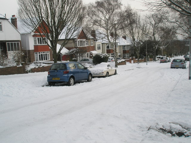 Heavy snow in Carmarthen Avenue