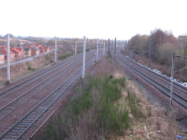 Railway Junction west of Newton Station