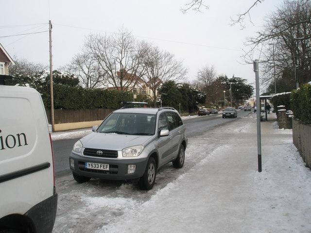 A treacherous pavement in Havant Road