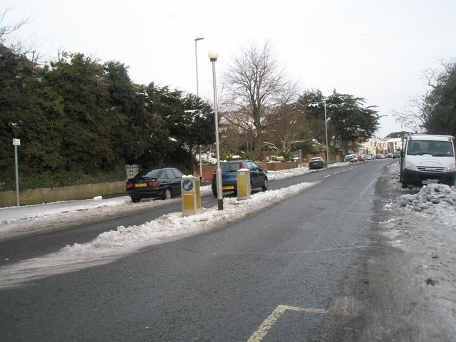 The Havant Road after January snow