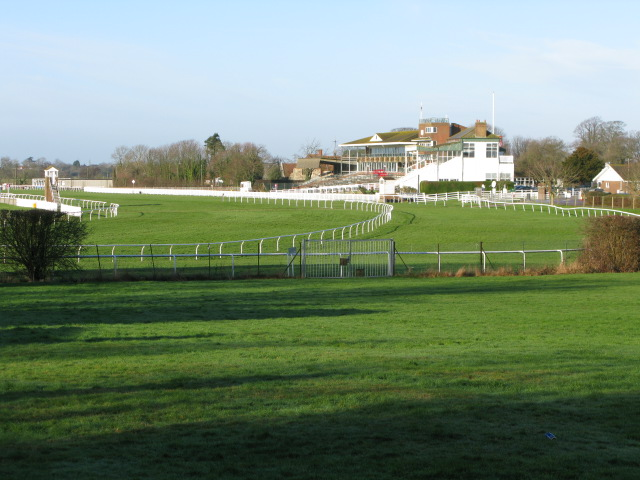 Folkestone racecourse from Stone Street