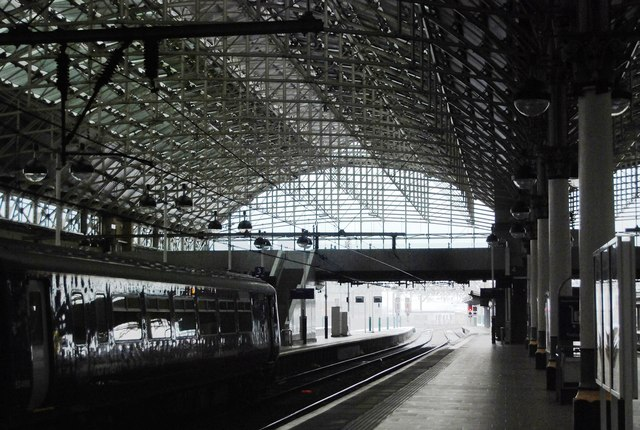Inside Piccadilly Station