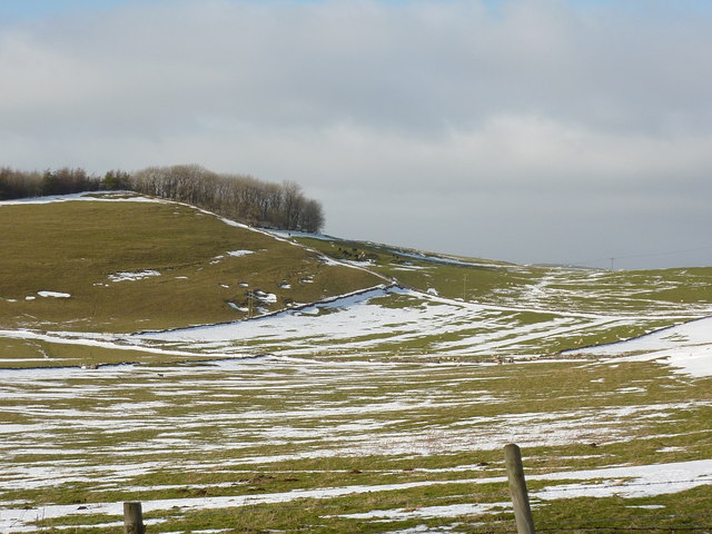 Fields, walls and lingering snow
