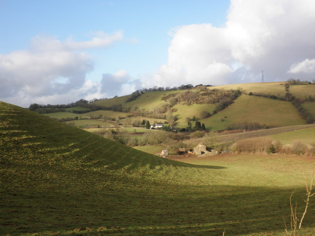 Looking across to Holwell Farm
