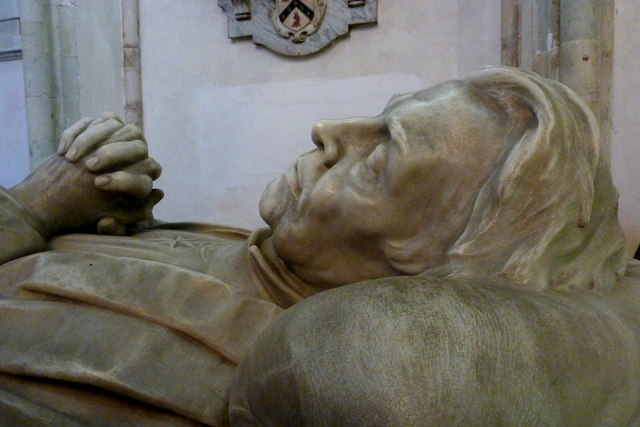 Detail of a memorial in Rochester Cathedral