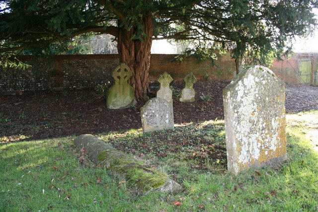 Graves under the yew
