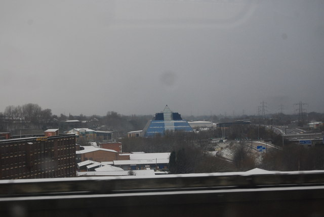 Looking towards Kings Reach Business Park, Stockport