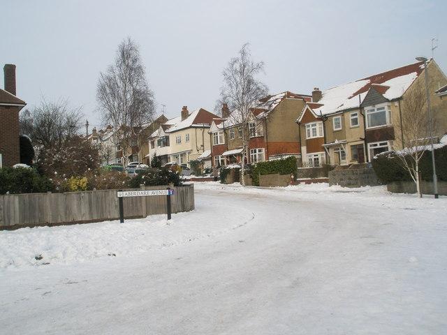 Looking from Penrhyn Avenue into Aberdare Avenue