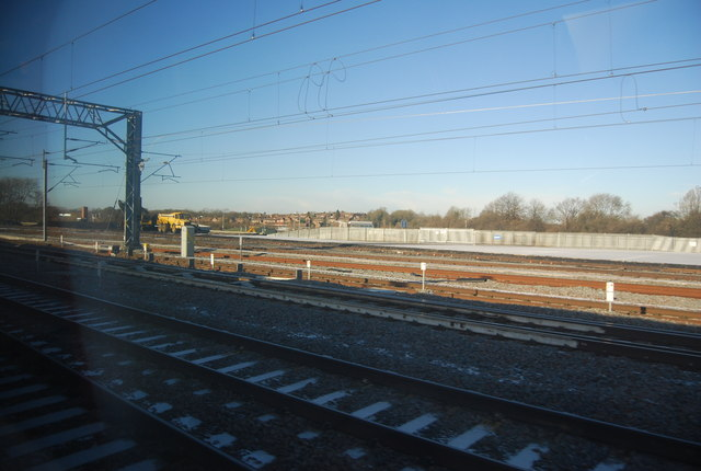 Railway lines west of Rugby Station