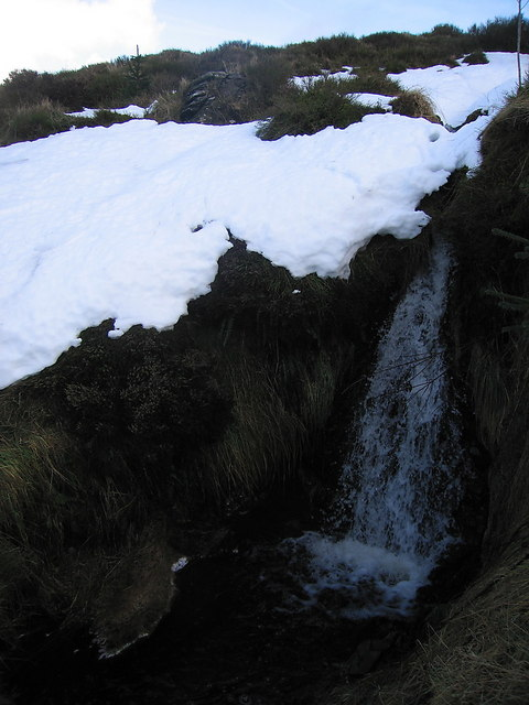 Meltwaterfall on Pen-y-Bwlch