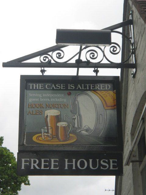Pub Sign: The Case is Altered