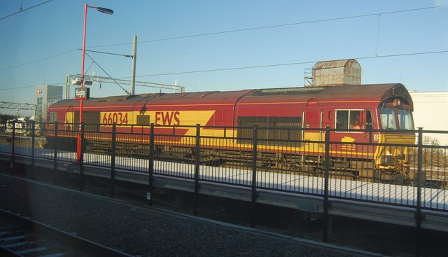 EWS Locomotive, Rugby Station