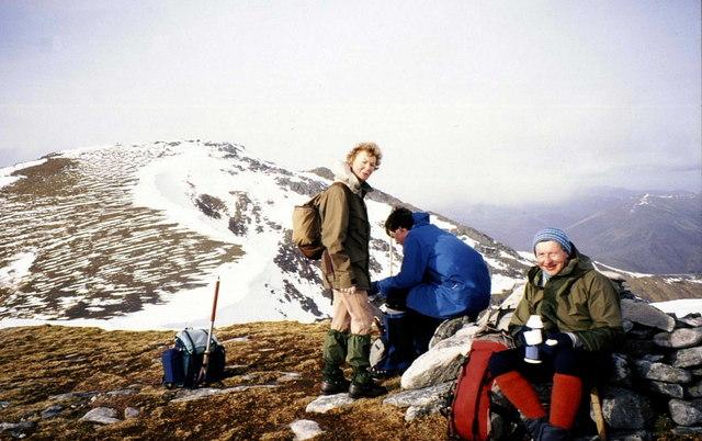 Summit cairn on Sgùrr nan Clachan Geala