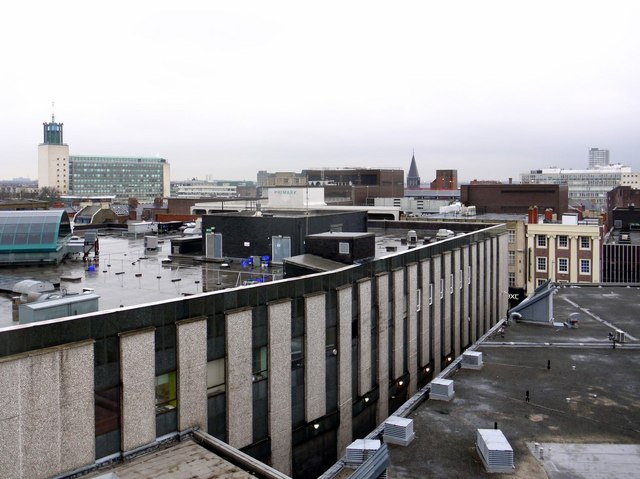 Rooftop view from Eldon Square roof car park