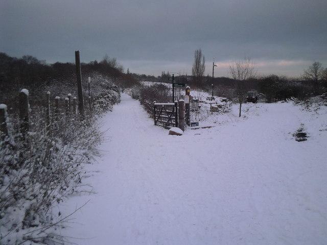 Woodlands Farm in snow