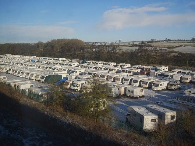 Caravan storage area south of Whilton
