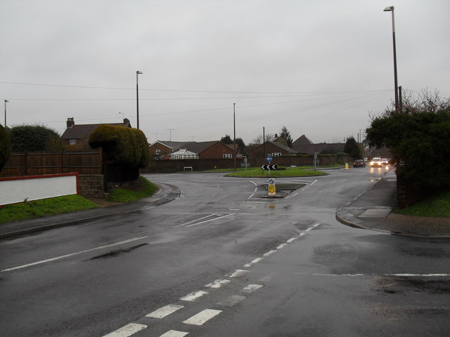 Looking from Windmill Drive towards the Worthing Road roundabout