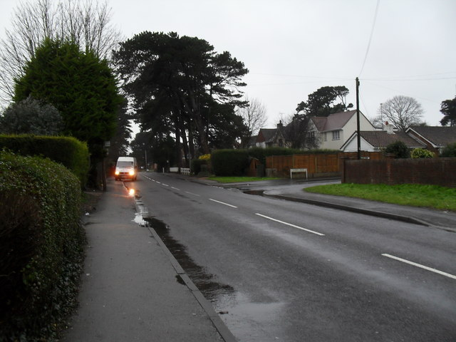 Looking along Mill Lane towards the junction with Albert Road
