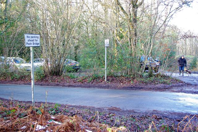 No parking ahead for Pooh Bridge