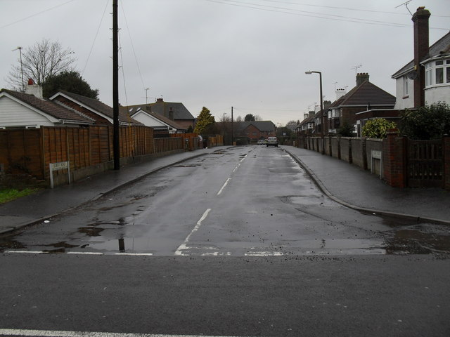 Looking from Mill Lane into Albert Road