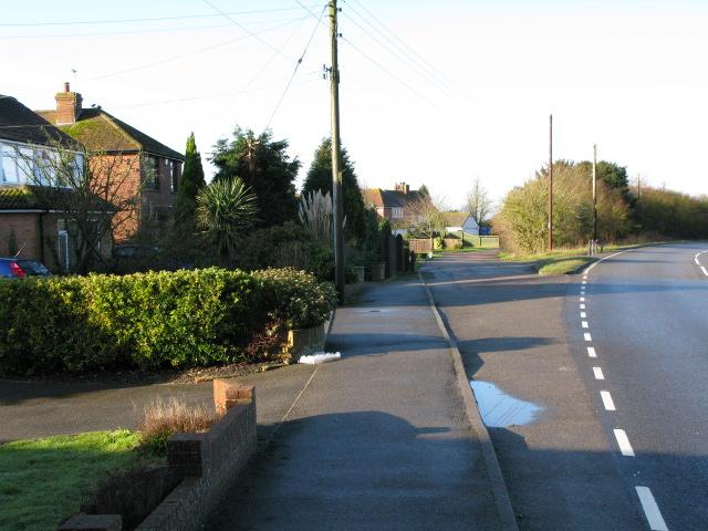Houses alongside the A20 Ashford Road