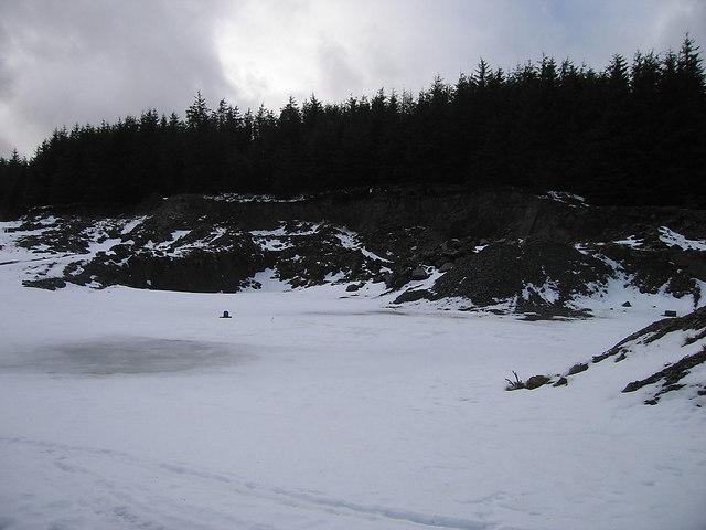 Quarry near Bwlch Rhyd-y-Meirch