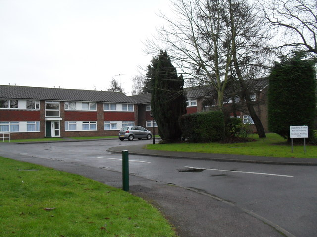 Looking from Mill Lane into Stansfield Court