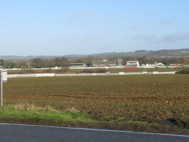 Folkestone racecourse from the A20 Ashford Road