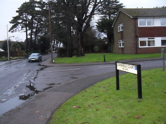Junction of  Stansfield Court and Mill Lane